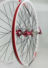 ALEX DP20 Novatec HUB Disc wheelset WHEEL SET RED WHITE 26 inch MTB HAND BUILD