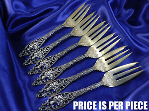 DOMINICK /& HAFF LABORS OF CUPID STERLING SILVER FISH FORK EXCELLENT CONDITION