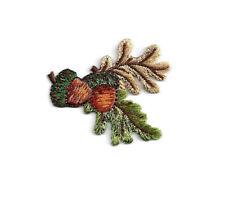 Acorn - Acorns W/Oak Leaf - Autumn - Fall - Embroidered Iron On Applique Patch