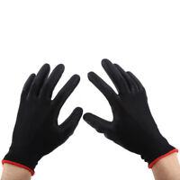 Nylon PU Safety Coating Work Gloves Builders Grip Palm Protect S M L 1 Pairs