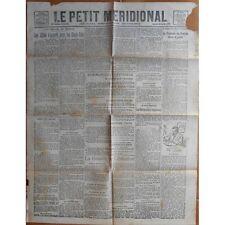 Le PETIT MÉRIDIONAL Cette Lodève Bousquet d'Orb Barthou et  Mourier 26 Oct 1918