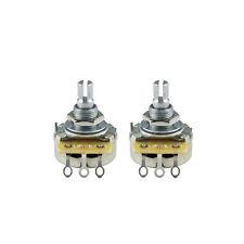 New 2pcs CTS 450 Series A250K Gutiar Pots Aluminum Split Shaft Potentiometers