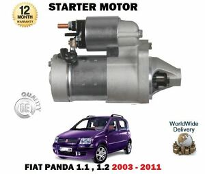 FOR FIAT PANDA 169 1.1 1.2 + VAN 2003-12/2011 NEW STARTER MOTOR UNIT