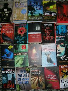 Bücher Sammlung Konvolut Buchpaket Taschenbücher  20 Bücher Romane Krimi