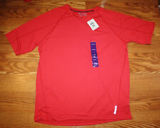 NWT Mens REEBOK PLAYDRY Poly/Spandex Red Crew Neck Short Sleeve T-Shirt 3XL XXXL