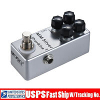 Mosky Guitar Overdrive Effect Pedal Gain Treble Bass Volume Pedals MM Silver