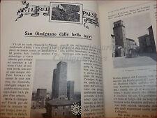 GIOVINEZZA Antica Rivista Illust. 1909 n.17 S. Gimignano Nomellini Fuoco Manica