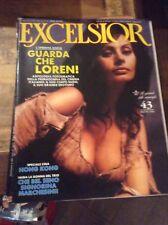 EXCELSIOR n°43 1989 SOFIA LOREN DUSTIN HOFFMAN MARCHESINI MITA BISSET SEXY EROS