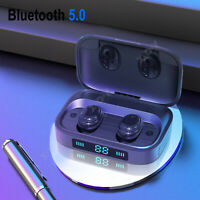 LED Bluetooth V5.0 Touch Headset TWS Wireless Earphones Earbud Stereo Headphone