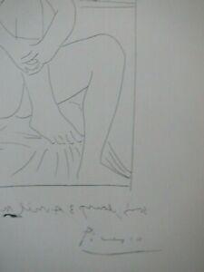 Pablo Picasso original Vollard Suite lithograph 1956 hand signed