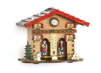 Weather house Black Forest with clock Made in Germany wood top quality NEW