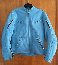 Women's Small Joe Rocket Girl Leather Motorcycle Jacket - Vented - Sky Blue