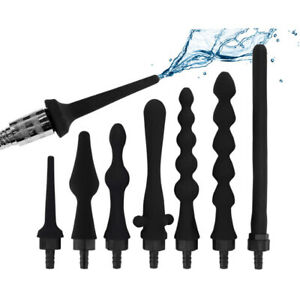 Shower head Douche Vagina Anal Cleaning silicone enema syringe system