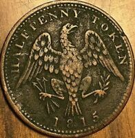 1815 LOWER CANADA SPREAD EAGLE HALF PENNY TOKEN