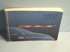 98 1998 Chevrolet Cavalier owners manual