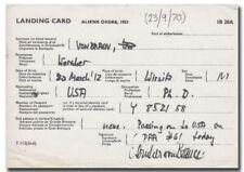 Wernher von Braun carboncopy landing card 1970 UK - 4i17