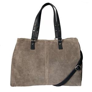 Over 50% Off Rowallan Grey Suede Leather Handbag, Tote, Shoulder Bag