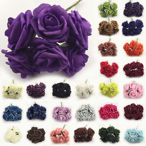 10 Bunches of 6 LARGE Foam Artificial Roses Foam Roses