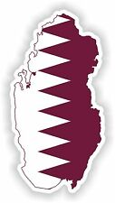 Sticker Silueta Qatar Mapa Bandera Para Parachoques Guitarra Patineta Locker Tablet