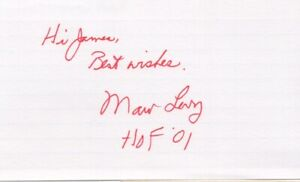 Marv Levy - NFL Football Coach - Autographed 3x5 Index Card