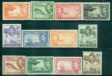 CAYMAN ISLANDS 100-11 SG115-26 MH 1938-43 KGVI Defin set of 12 Cat$80