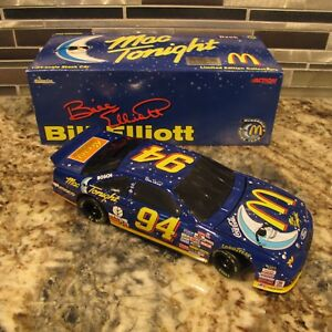 BILL ELLIOTT MAC TONIGHT 1997 ACTION FORD THUNDERBIRD DIECAST BANK - 1/24 SCALE
