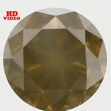 4.65MM 0.49 Ct Natural Loose Diamond Cut Round Shape Yellow Green Color I1 N5430