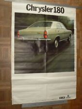 Grande Affiche Ancienne Automobile SIMCA CHRYSLER  180   car poster