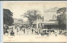 Ceylon Postcard - Colombo - Pettah and Town Hall - Ceylan Sri Lanka