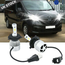 FOR RENAULT TRAFIC 1989+ - Pair H4 Headlight Kit LED Bulbs 100W PURE WHITE 6500K