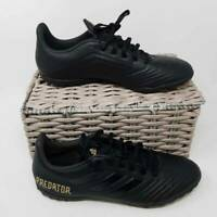 Adidas Mens Predator 19.4 Turf Soccer Shoes Black F35635 Low Top Lace Up 9.5 New