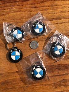 (Lot of 5) Rubber BMW Logo Car Keyring Keychains - MotoMarin San Rafael, CA NEW