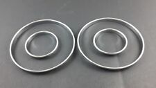 BMW E30 4D DASH CLUSTER GAUGE RINGS CHROME CLIP ON