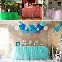 1PC Tutu Table Skirt Cover Birthday Wedding Festive Party Decor Table Cloth UK