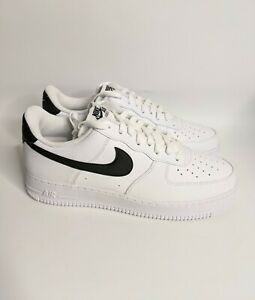 Nike Air Force 1 '07 Low White/Black Shoes Men's CT2302-100 NEW Size 10.5