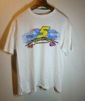 Nascar Kyle Busch #5 Car Quest Graphic White 2006 Crew Neck T-Shirt Size XL