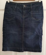 Ladies size 8 Dark Blue Straight Denim Skirt - ESPRIT