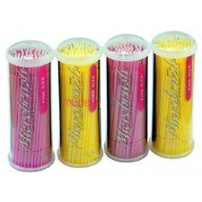 Dental Microbrush Tube Fine Size 2 pink+2 yellow 1.5mm 400 Applicators MFA400