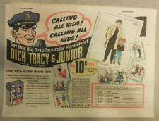"Pillsbury Cereal Ad: ""Dick Tracy"" Premium! Farina Cereal 1950's 7 x 10 inches"
