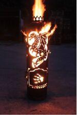 Drache Feuerstelle Feuerschale Terassenfeuer Feuerkorb Feuertonne Eisen Edelrost