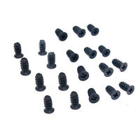 20 Black Computer PC Case Chassis Cooling Fan Grill / Guard Mounting Screws