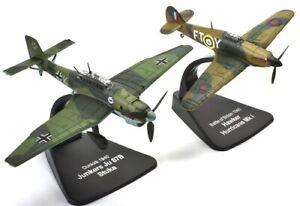 Junkers JU 87B & Hawker Hurricane Mk I 1940 Duelling Fighters Atlas 1/72