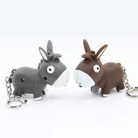Creative Donkey Animal LED Light Key Chain Key Ring with Sound Mini Flashlight