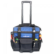 HEAVY DUTY Rolling Construction Tool Bag Tote With Pop Up Handle Wheels 15-inch