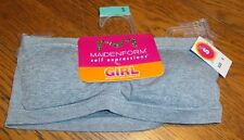 Sz S 6/6X Girls Self Expressions Gray Strapless Bra nwt