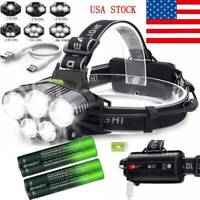 160000LM 5X T6 LED Headlamp Rechargeable 18650 Headlight Flashlight Head Torch☆