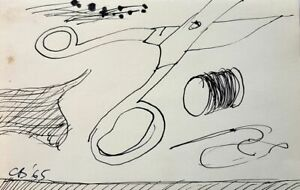 Charles BLACKMAN 'Needle &Thread' London 1965 original collectable drawing + COA