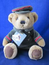"Harrods Bear 10"" Tan Doorman Bear Sitting wearing Harrods Hat Cap ~New with Tags"