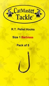 CatMaster Tackle R.T. Pellet Hooks Size 1 Barbless