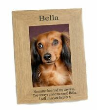 Dog Memorial Photo frame Portrait fits  6 x 4 engraved Personalised Gift #1